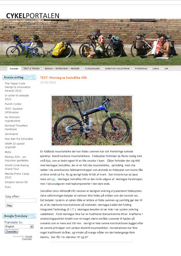 CykelPortalen Montague Article