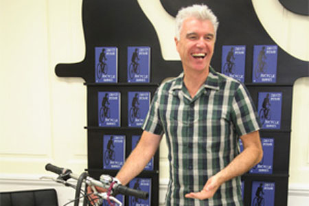 David Byrne with Montague Bike