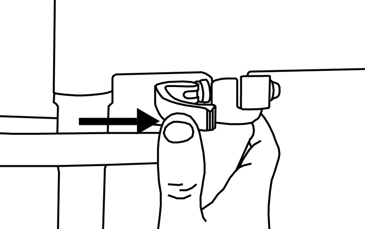 Fig. 25: Close frame quick release.