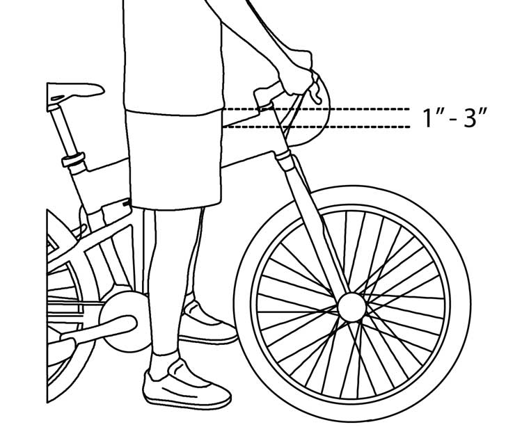 Fig. 3: Bicycle stand over