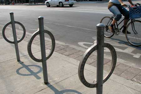 Empty Bike Racks