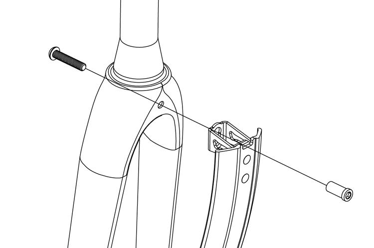 Fig. 16: Pavement bike fender installation.