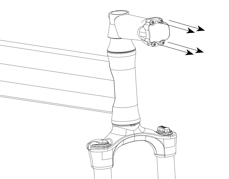 Fig. 12: Remove the stem clamp.