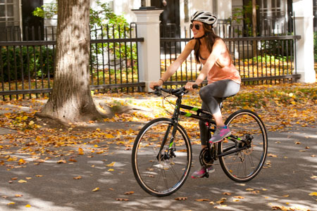 FIT Folding Road Bike Woman Riding small