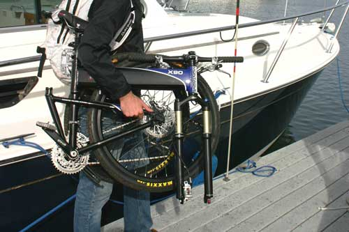 Montague folding bike for your boat