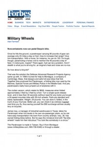 Forbes Online Montague Bikes Military Article
