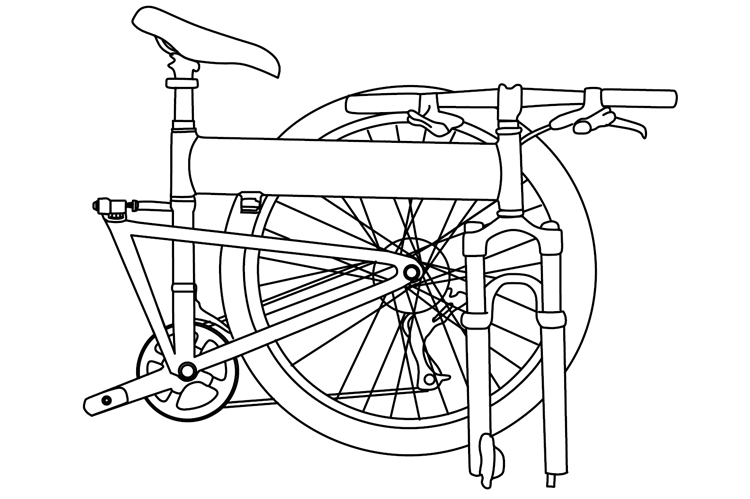 Fig. 38: Folded bike.