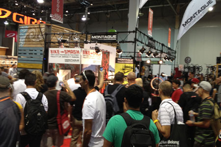 Interbike booth bike smash event