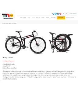 Momentum Mag Montague Folding Bike Article Thumbnail