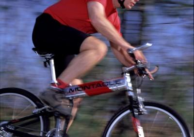 mx folding bike riding blurred