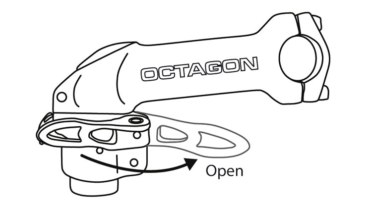 Fig. 27: Open quick release lever.