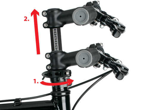 Octagon adjustable stem usage