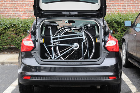 Park and Pedal Commute Bike in Trunk