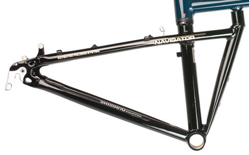 Power Angle on Folding Bike Frame