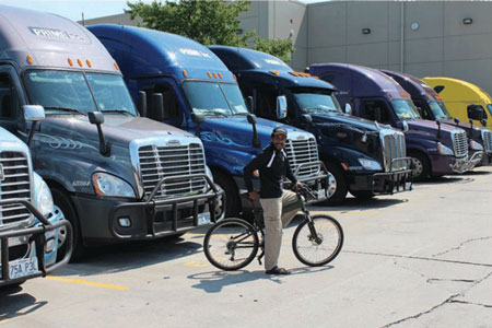 Prime Trucking Montague Folding Bikes Partnership