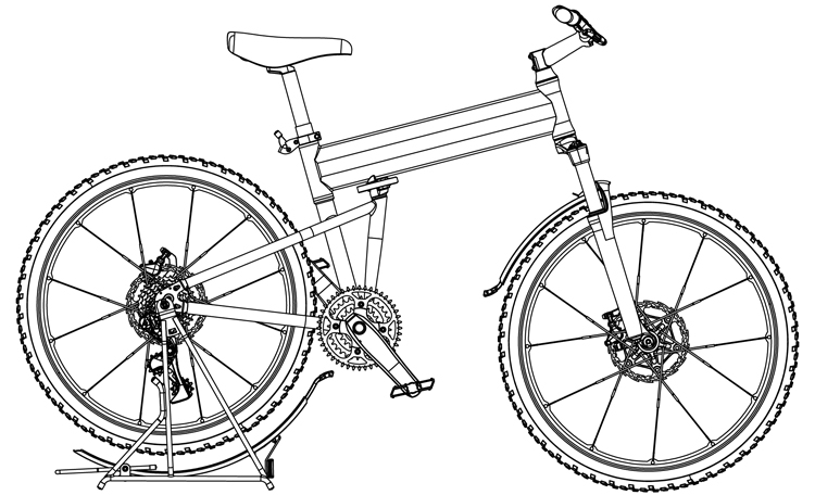 Fig. 22: RackStand in down position.
