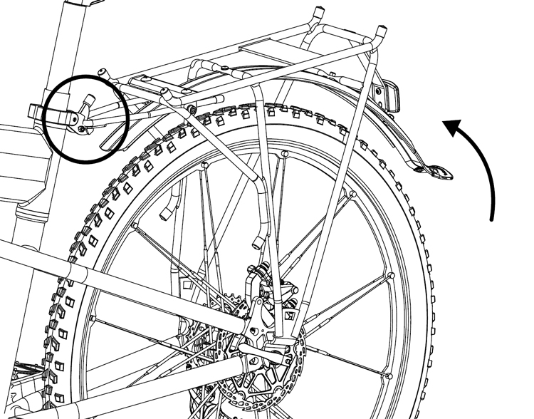 Fig. 42: Rotate RackStand and lock in place.