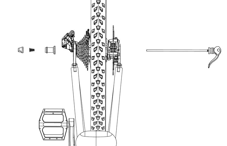 Fig. 39: Installing RackStand quick release.