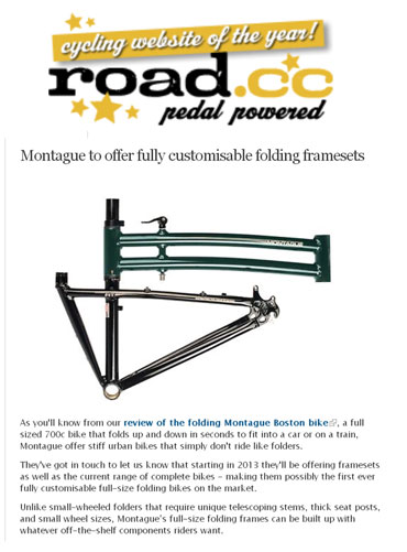 Montague Folding Frame Sets in the News!