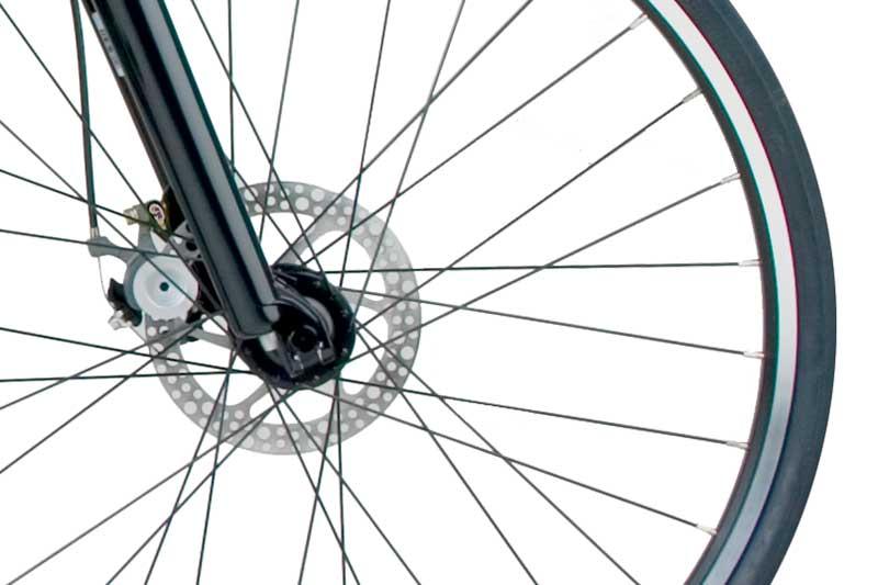 Swissbike TX Folding Bike Components Closeup