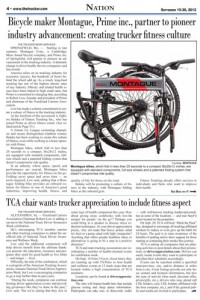 The Trucker Newspaper Montague Article