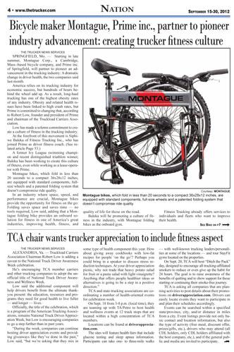 Montague in The Trucker Newspaper