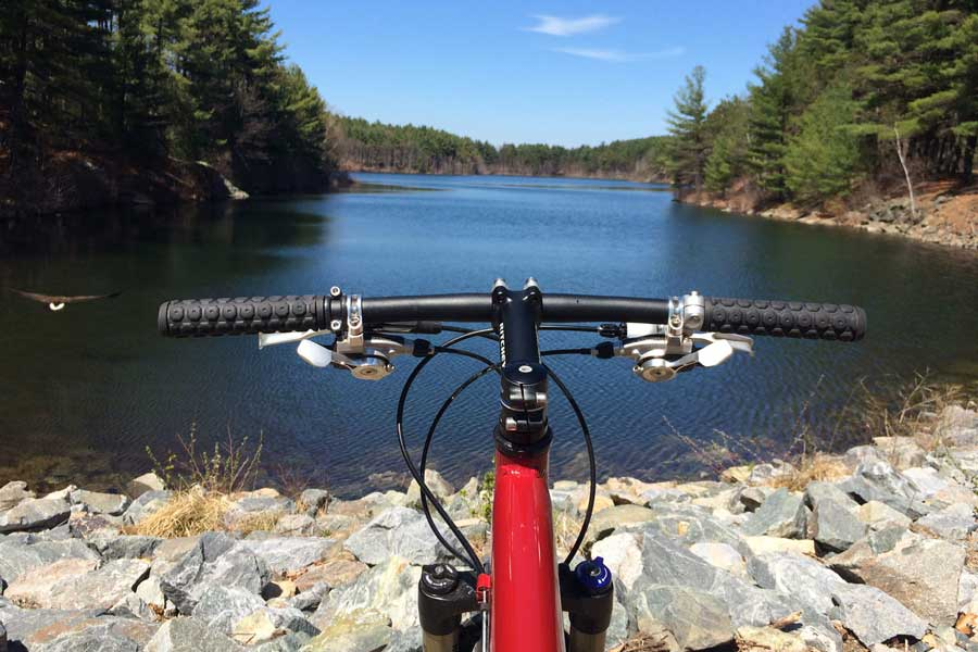 Spring Mountain Biking on a Folding Bike