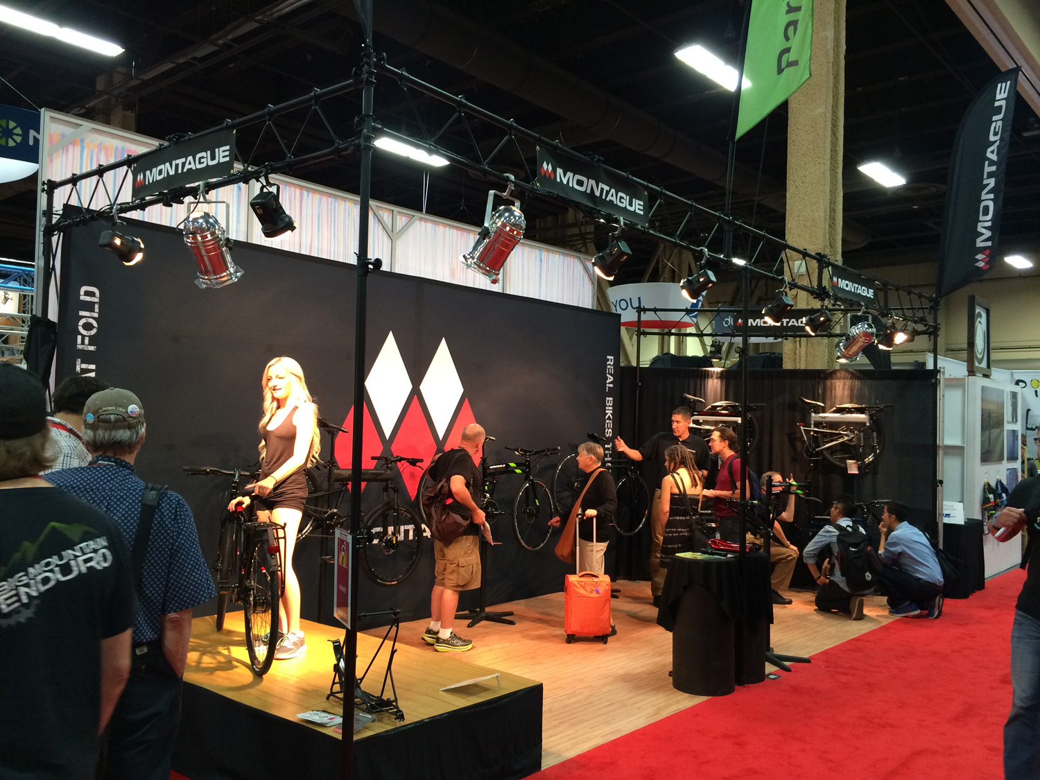 Montague booth at Interbike 2015