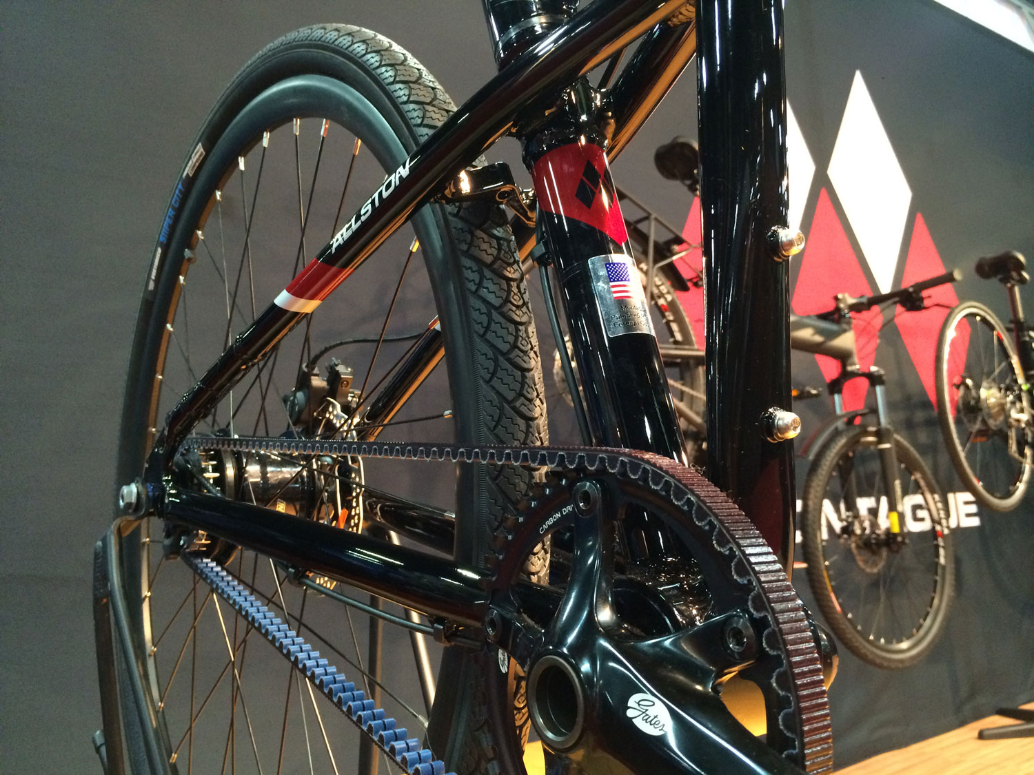 Montague Allston Belt Drive Folding bike at Interbike 2015