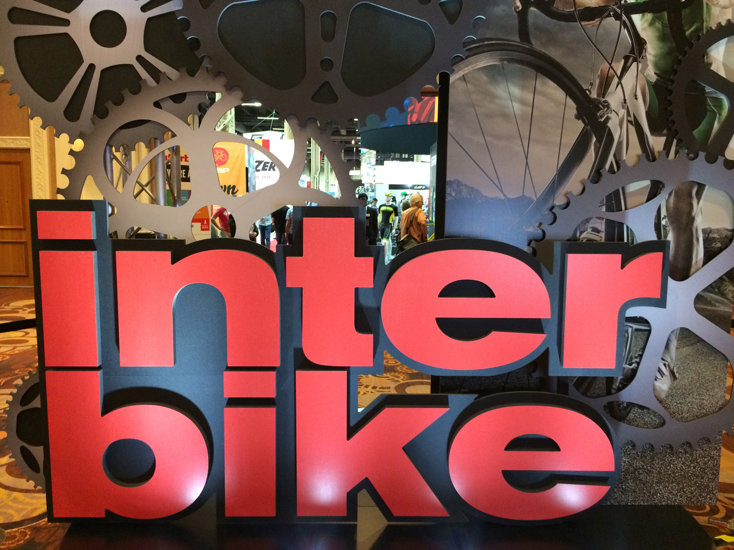 Interbike 2015 logo sign