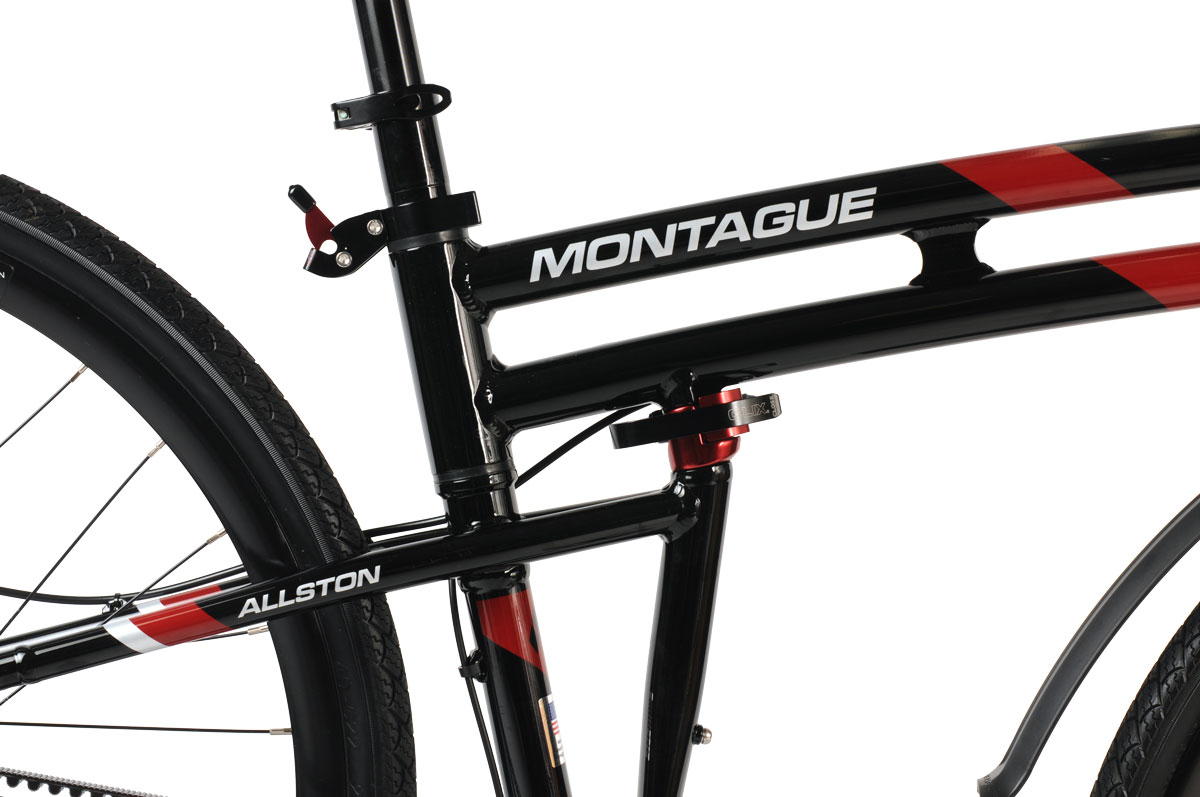 Montague Allston Folding Bike Folding system closeup