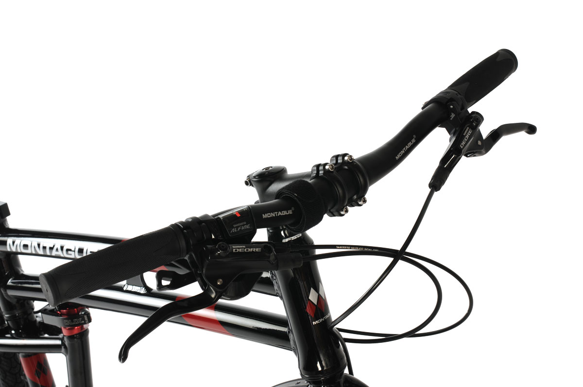 Montague Allston Folding Bike Handlebars Closeup