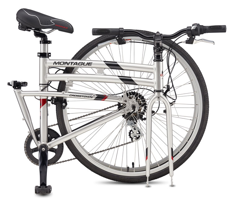 Montague Crosstown Folding Bike Folded