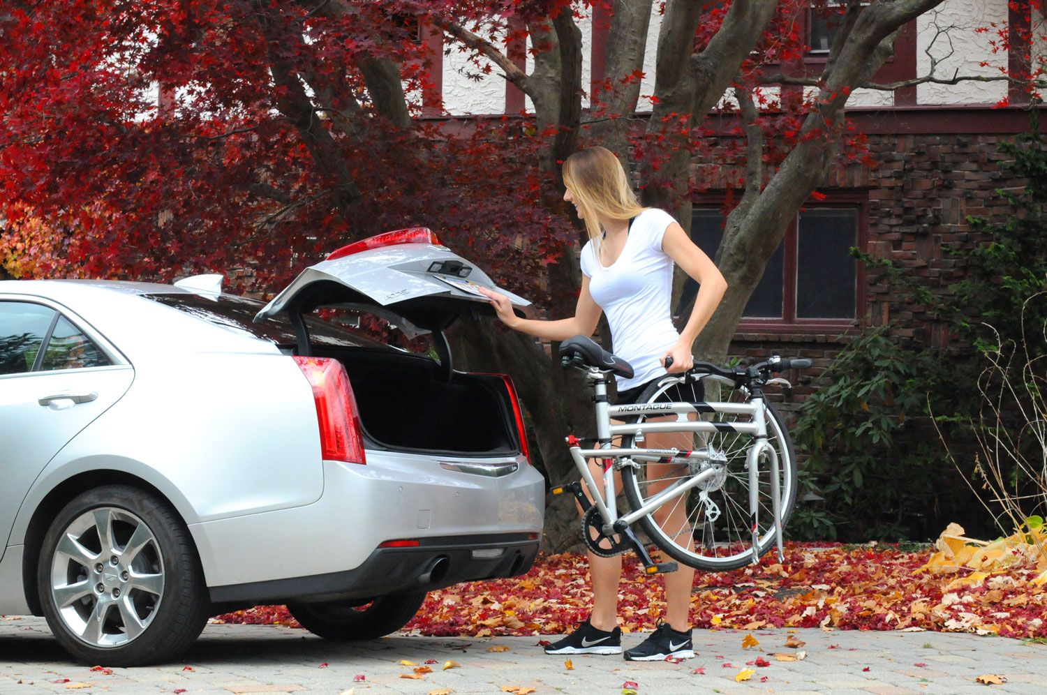 Montague Crosstown Folding Bike into Trunk