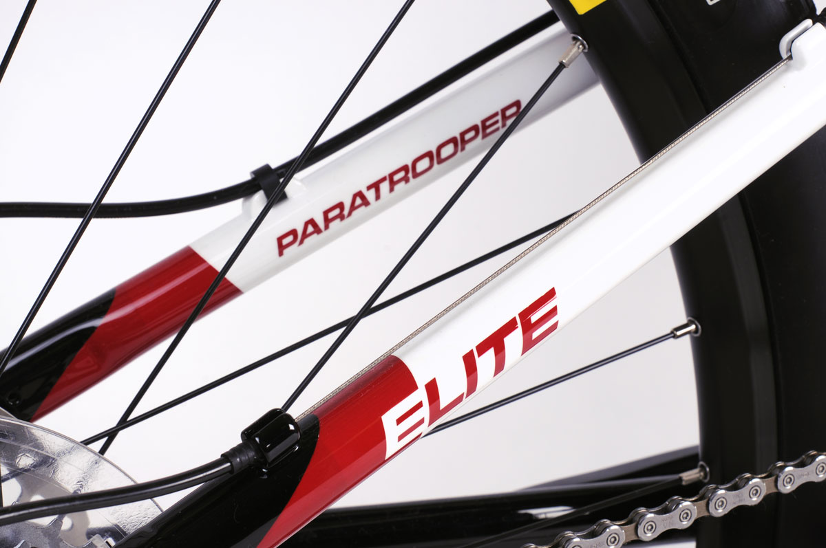 Montague Paratrooper Elite Seatstay decal closeup