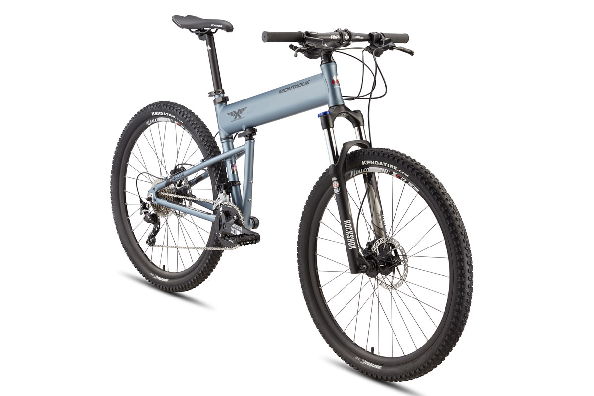 Montague Paratrooper Highline folding bike angled