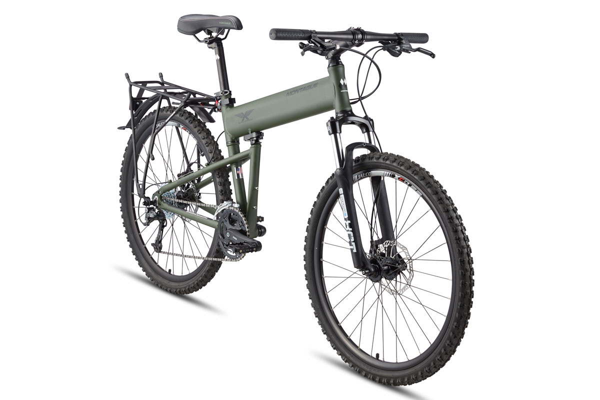 Montague Paratrooper folding mountain bike angled