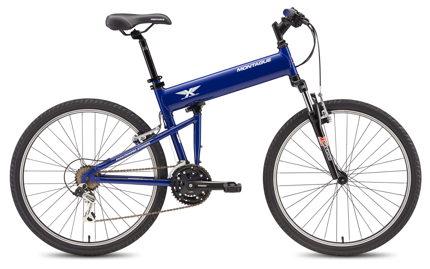 Montague Paratrooper Express Folding Bike Open