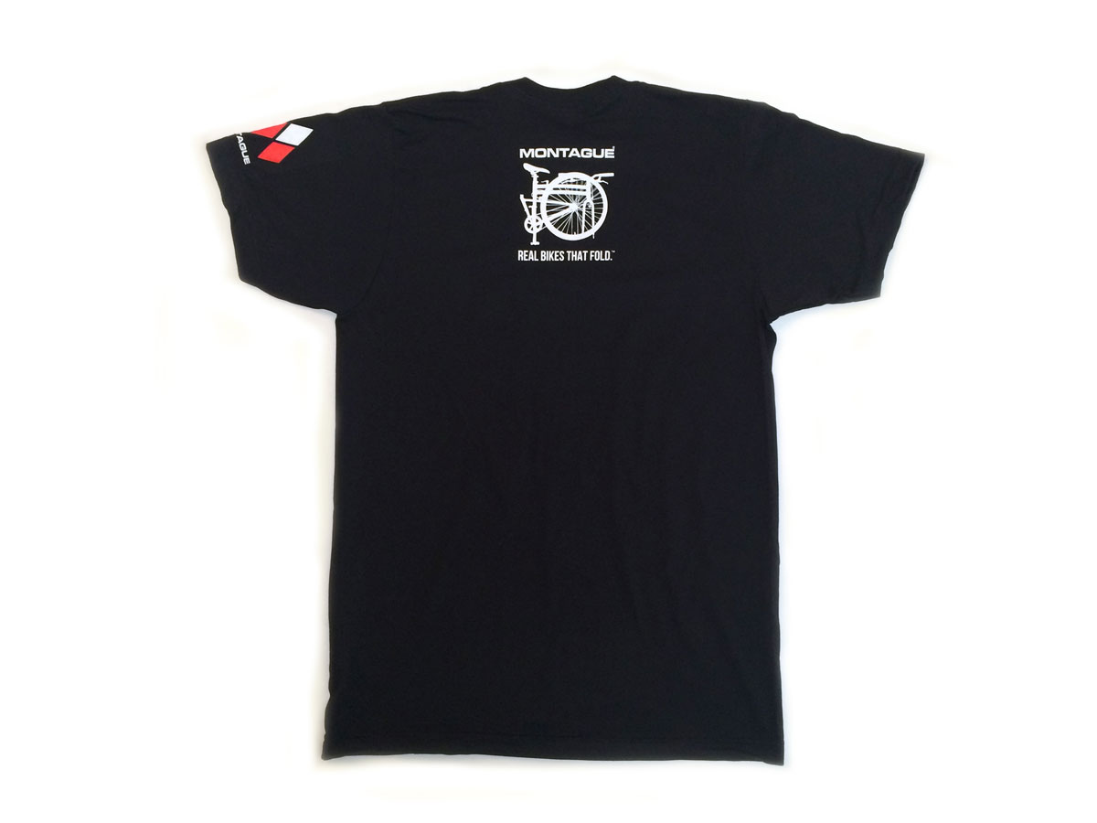 Montague Bikes t-shirt back alone
