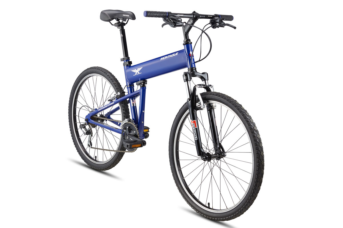 Montague Paratrooper Express folding mountain bike angled
