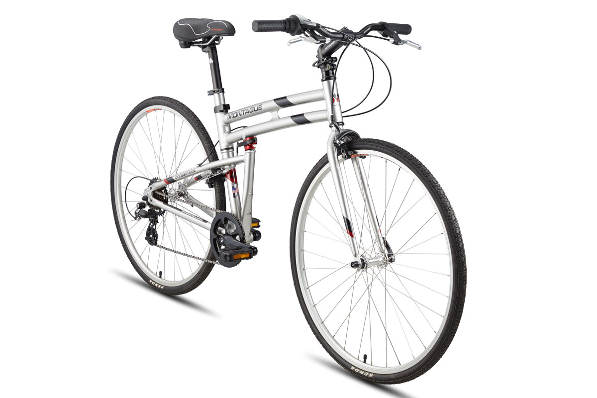 Montague Crosstown folding bike angled