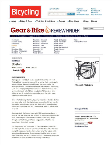 Bicycling Online Review Thumbnail