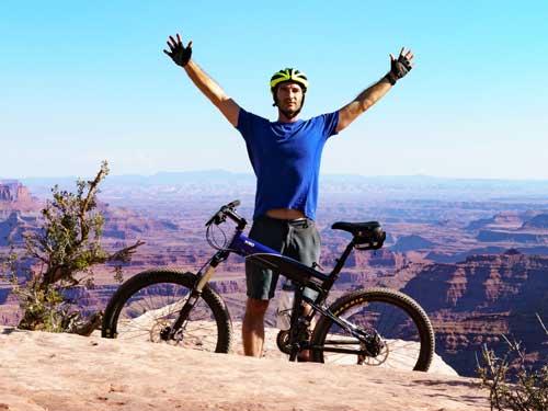 Riding Moab on a Montague Folding Bike
