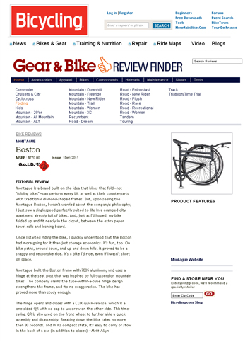 Bicycling Online Montague Folding Bike Review Thumbnail