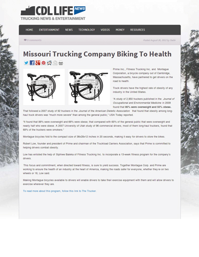 Montague Bikes in CDL Life Trucking News