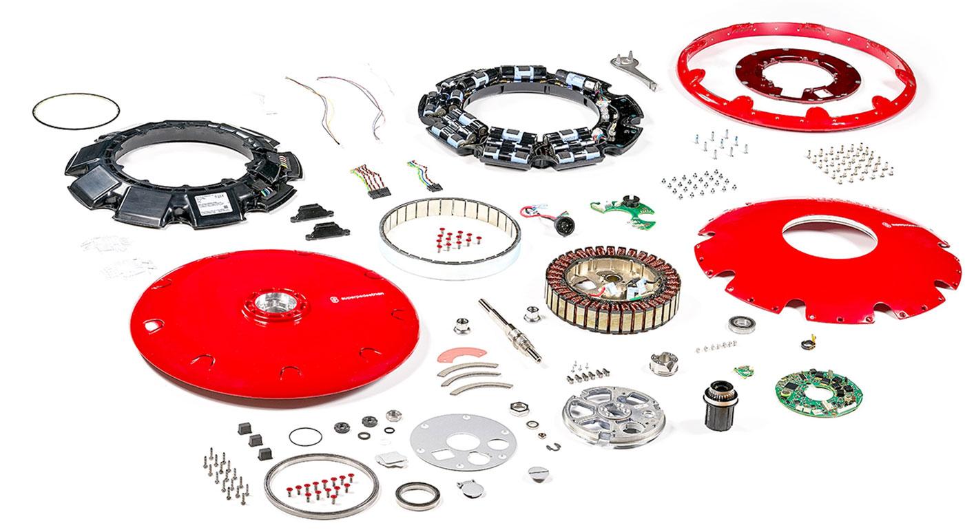 Superpedestrian Copenhagen Wheel Expanded Parts View