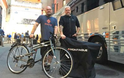 Montague Bikes on Tour with Simple Minds